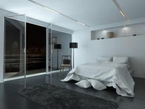 Seng i soveværelse